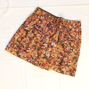 JCREW FACTORY Floral Mini Skirt with Pockets - 8